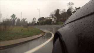 Drift in the rain with traffic (bmw 320d)