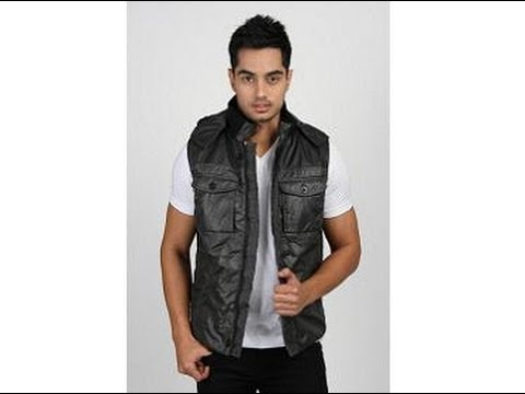 Jogur Sleeveless Solid Men's Quilted Jacket Black