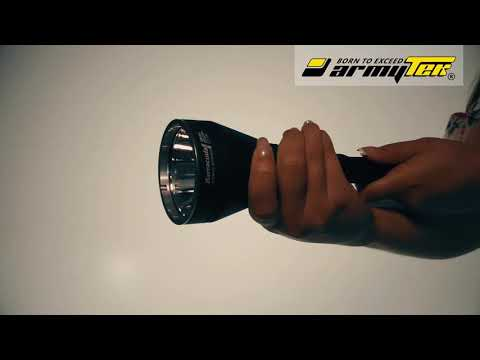 Setting modes in the Armytek Barracuda Pro. Switch from Turbo to Basic. Strobe