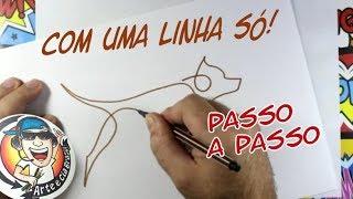 COMO FAZER DESENHO COM UMA LINHA SÓ - ONE LINE ART CHALLENGE