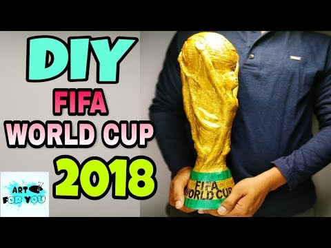 How To Make FIFA World Cup 2018 Trophy | DIY FIFA World Cup 2018 Trophy