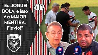 Flavio Prado aponta 'erro gravíssimo' do São Paulo, mas Vampeta rebate