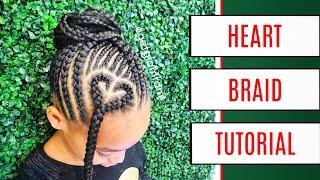 EASY Heart Braid Tutorial For Kids