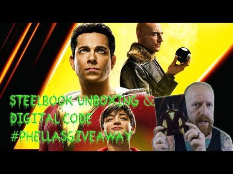 Shazam! – Best Buy 4K Steelbook Unboxing and Digital Code