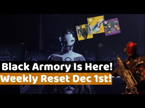 Destiny 2 - Black Armory! New Weekly Reset, Eververse Items, Challenges & More! (4th December)