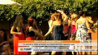 'Modern Family' actress Ariel Winter alleges mother abused her-Today Show 11/9/12