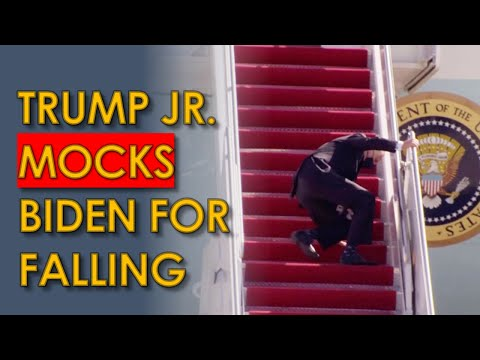 Trump hits Biden with golf ball; Biden Meme FALLING on AIRPLANE stairs