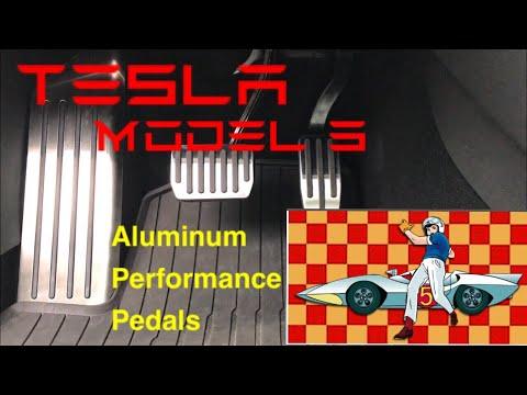 Tesla Model 3 Aluminum Performance Pedals (3 piece) installed!