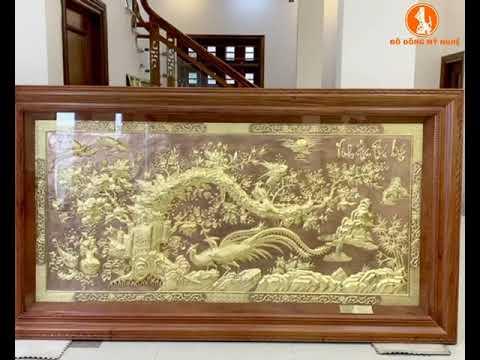 Tranh đồng Vinh hoa phú quý treo phòng khách đúc tại Đồ Đồng Mỹ Nghệ