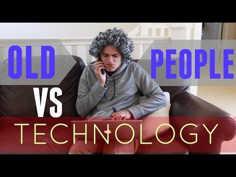 Old People VS Technology | Brent Rivera