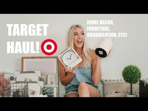 HUGE TARGET HAUL!! | Home decor, furniture, office, organization,  kitchen, etc! | Karlie Rae Lang