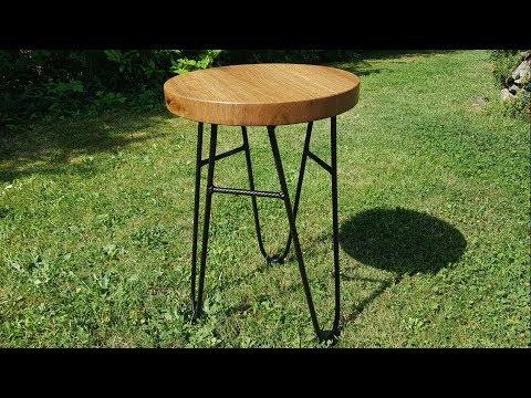 Beistelltisch / Hocker aus Holz und Metall bauen