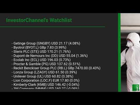 InvestorChannel's Disinfection Watchlist Update for Friday, September 25, 2020, 16:30 EST