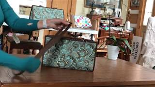 Organizer Bag For Jewelry Making And Beading With Bead Mat Attached