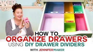 How To Organize Your Drawers + DIY Drawer Dividers!