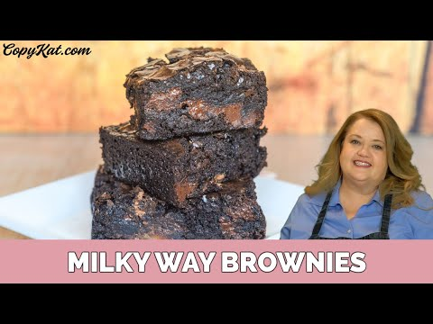 Upgrade boxed brownie mix with Milky Way Candy Bars