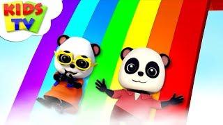 Rainbow Colors Song   Baby Bao Panda   Kindergarten Nursery Rhymes For Children