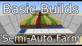 Basic Semi-Automatic Farm - Minecraft 1.14 - Basic Builds