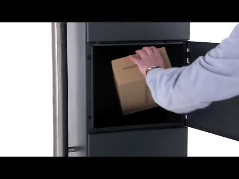 Paketbriefkasten freistehend BASIC BIG 862B-ST - RAL 7016 anthrazitgrau - Standelemente Edelstahl