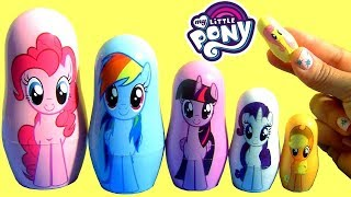 My Little Pony Pop Up Toys Surprises Playdoh Stacking Cups