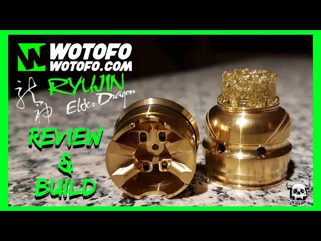 Wotofo Ryujin Elder Dragon RDA Review & Build - A 22mm Single Coil Flavour Machine!