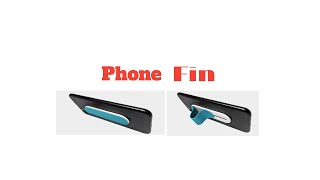 """""""Phone Fin"""" Collapsible Finger Grip, Phone Stand and Car Mount"""