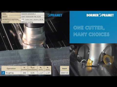 Pramet SOD05 Universalfräser und Wendeschneidplatten