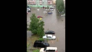 Потоп в Ноябрьске (двор)