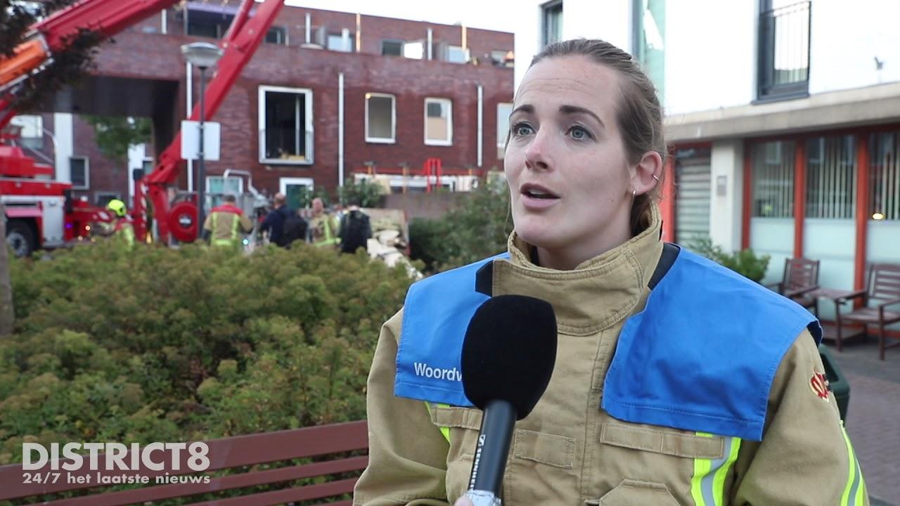 Grote brand in spouwmuur van woning, meerdere woningen betrokken Bogotastraat Den Haag