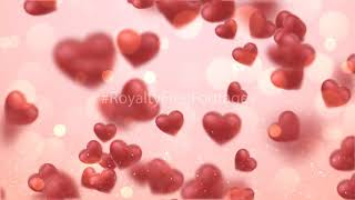 heart background video, absolute romantic love background, heart background animation, Royalty Free