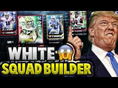 BEST WHITE PLAYERS IN THE NFL! MADDEN 17 SQUAD BUILDER