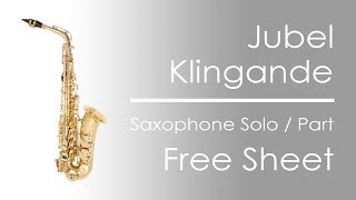 Jubel - Klingande | Saxophone Solo Notes | Free Sheet