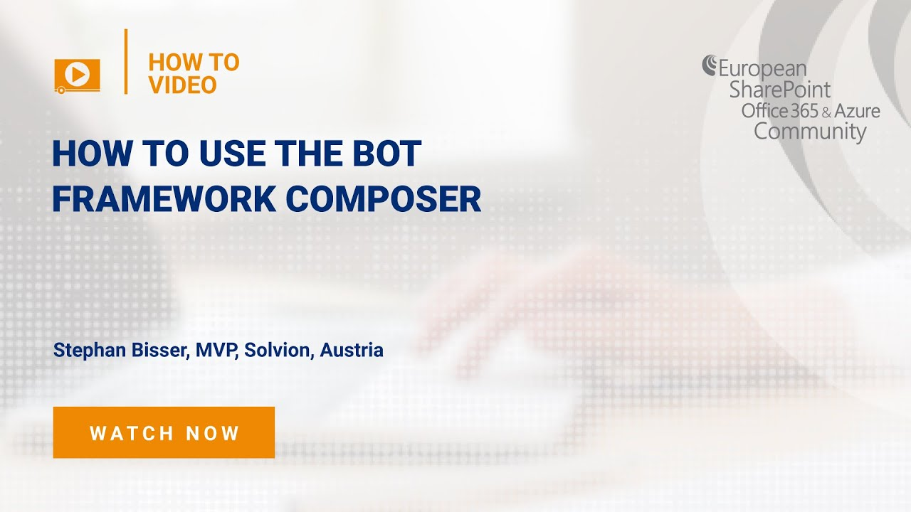 How To use the Bot Framework Composer