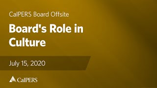 Board's Role in Culture I July 15, 2020