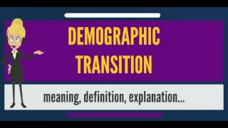 What is DEMOGRAPHIC TRANSITION? What does DEMOGRAPHIC TRANSITION mean?