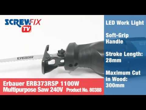 Erbauer ERB373RSP 1100W  Reciprocating Saw 240V