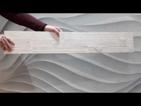 Product detail video showing the antique white wooden panel from all angles
