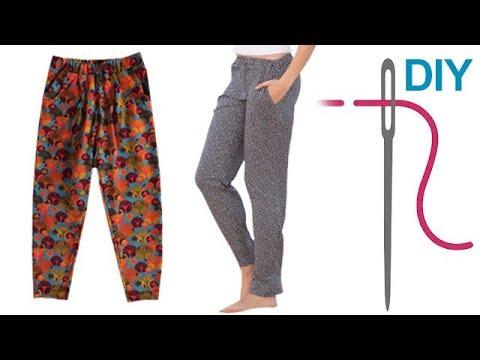 Hose nähen für Anfänger – DIY legere Hose mit Gummizug