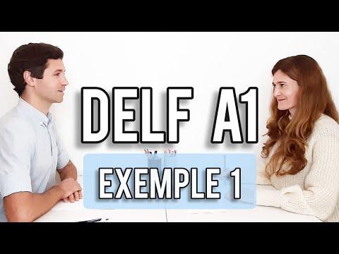 PRODUCTION ORALE DELF A1 | Exemple d'examen avec sous ...