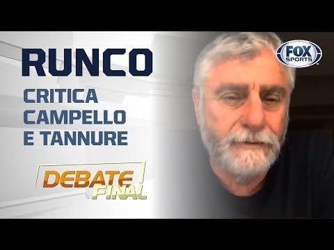 RUNCO CRITICA PRESIDENTE DO VASCO E MÉDICO DO FLAMENGO:
