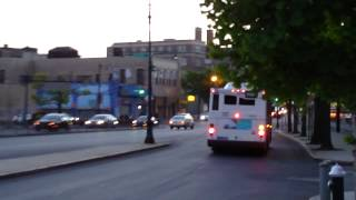 preview picture of video 'MTA New York City Bus: Orion 07.501 OG CNG #7646 Bx17 @ E. Fordham Road and Cambreleng Avenue!'