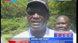 Ministers leading tree planting drive, Saving Kaptagat