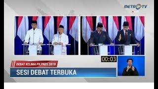 Debat Kelima Pilpres Part 6: Jokowi 'Menggetarkan' di Penutup, Sandi 13 Kali Ajak 'Tusuk'
