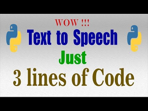 Easy Python tutorial 17: Text to speech TTS with pyttsx3