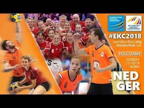 Fleur Hoek verovert met Nederlands team de Europese korfbaltitel