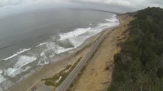 First time FPV cliff diving! SEND IT!!! #fpvfreestyle #geprc #mark3 #hwy1 #santacruz #quarentine