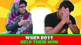 When Boys help their Mom   Humorist