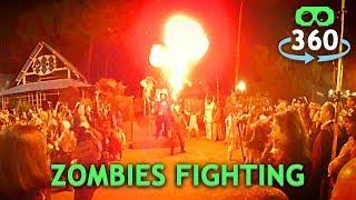 Zombies Fighting Halloween 360º Virtual Reality #360Video #VirtualReality #VR #360