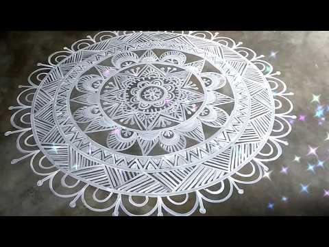 creative mandana rangoli design by shyamali rangoli