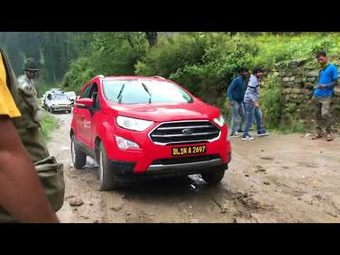 Ecosport Struggling During Muddy Patch On Kasol - Tosh Road